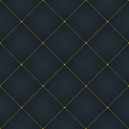 Abstract geometric pattern with lines, squares . A seamless vector background. Dark blue and gold texture. Imagens - 63465968