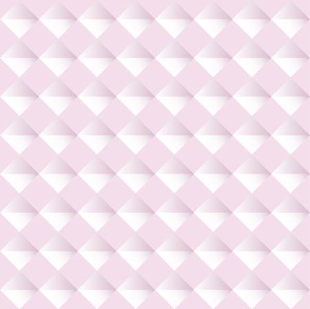 Pink seamless geometric pattern. Vector background illustration Ilustração