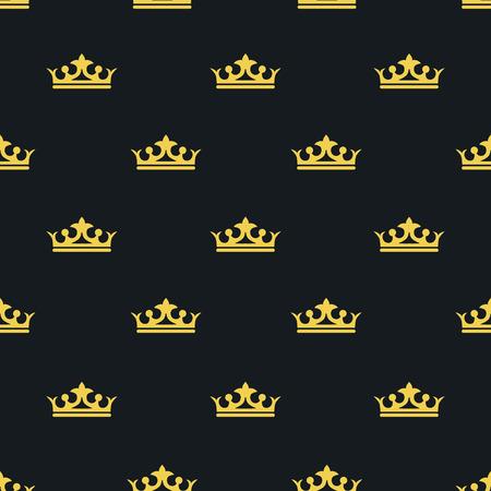 Seamless pattern Laksheri style. crown. Vector illustration