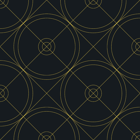 Abstract geometric pattern with lines, circles. Vector illustration