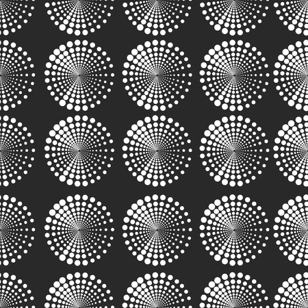 Seamless pattern with dotted elements. Vector repeating texture. Stylish monochrome background Imagens - 63465895