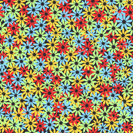 Seamless colorful floral pattern texture. Vector illustration Imagens - 63465896