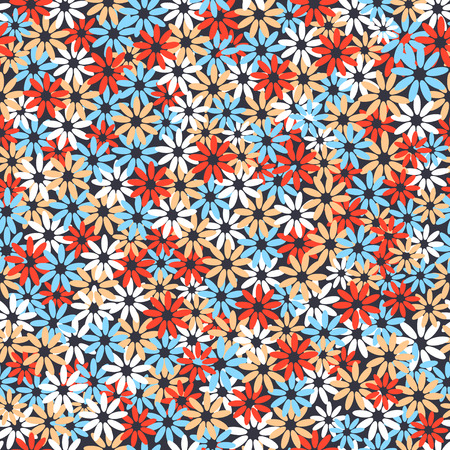 Seamless colorful floral pattern texture. Vector illustration Imagens - 63465897