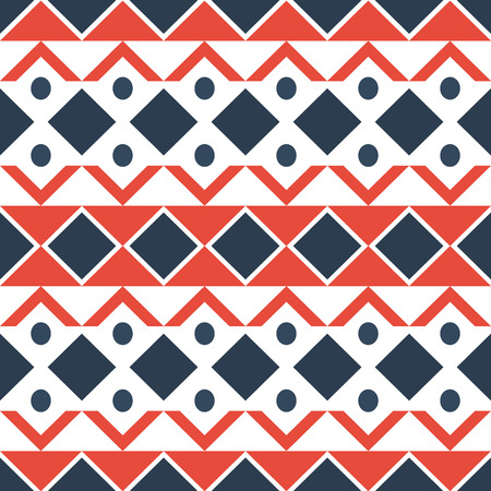 Geometric ethnic oriental seamless pattern traditional Design for background.Vector Ilustração