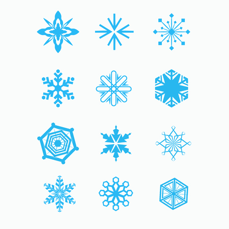 Snowflake set for winter design. Vector illustration Imagens - 63465909