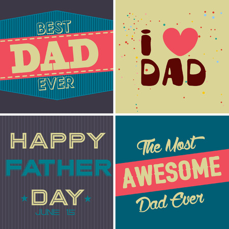 father s day: Set of Father s day brochures in vintage style . Vector