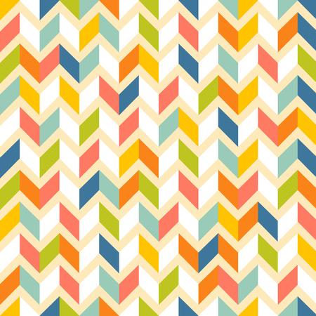 Fashion zigzag pattern in retro colors, seamless vector background Illusztráció