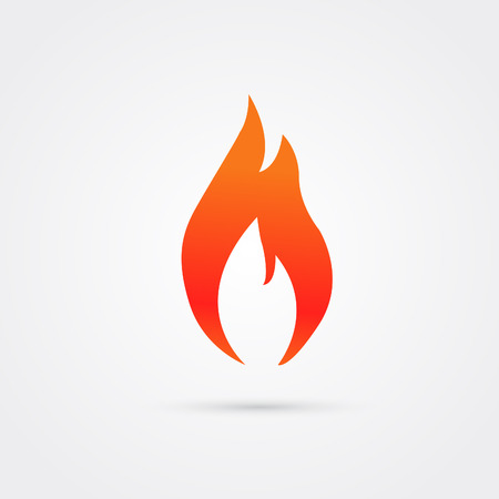 Fire icon modern style . Color illustration object .Vektor