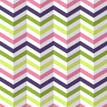 Fashion zigzag pattern in retro colors, seamless vector