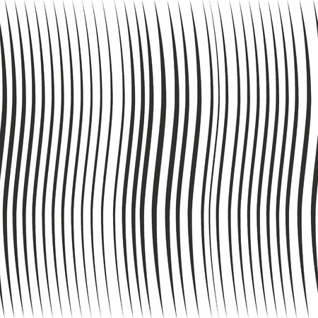 Vector seamless pattern with wavy stripes. Modern stylish texture.