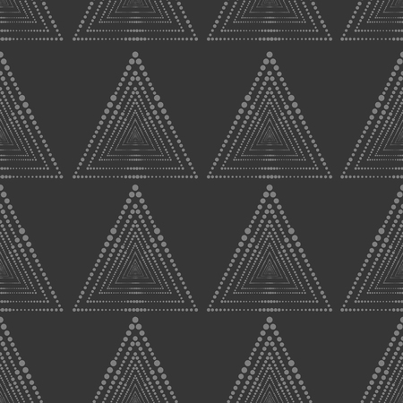 Abstract geometric pattern with lines, squares . A seamless vector background. Dark blue texture.