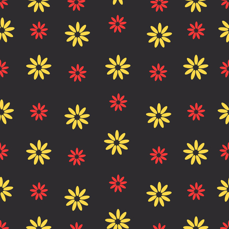 Seamless flower beautiful color pattern. Vector illustration Imagens - 63465785