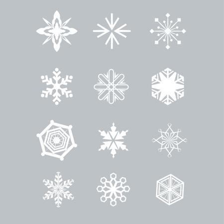 Snowflake pattern set for winter design. Vector illustration Imagens - 63465789