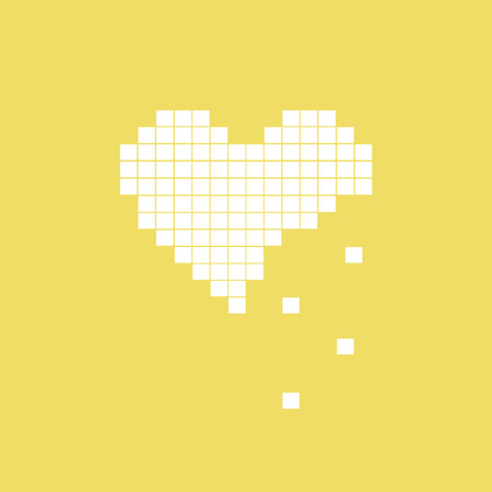 miserable: Vector illustration of heart symbol in pixel art style