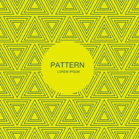 Abstract triangle seamless pattern background . illustration Banco de Imagens