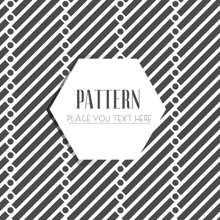 Seamless pattern with dotted elements. Vector repeating texture. Imagens - 63714837