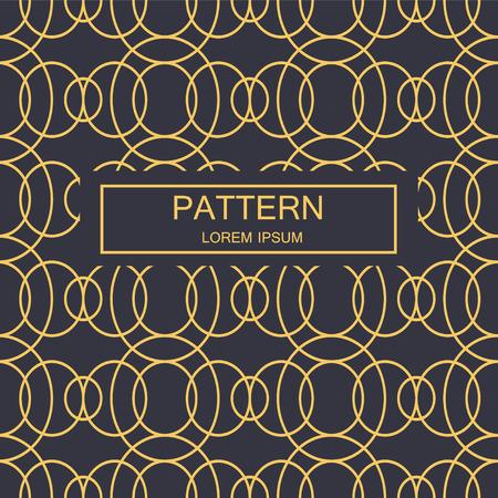 Abstract striped textured geometric seamless pattern. Vector. Ilustração