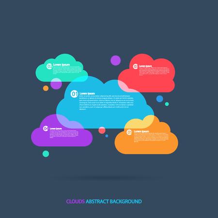 Clouds background kontseptulny transparency. Transport Business .Vektor pattern illustration.