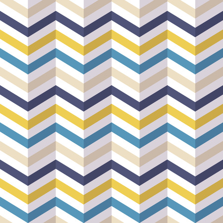 Fashion zigzag pattern in retro colors, seamless vector background Ilustração