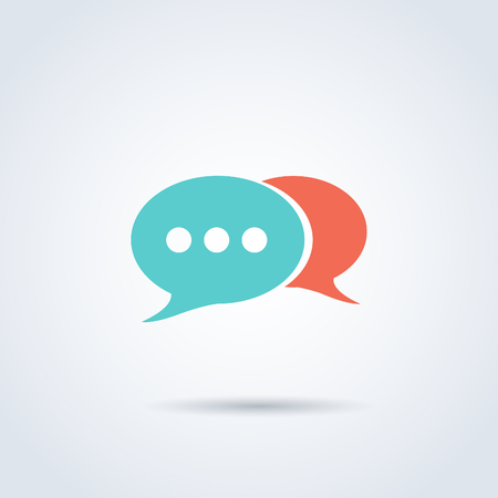 background Vector speech bubble icons. Sleek style color illustration Imagens - 63714846