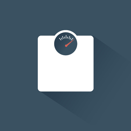 Modern flat design scales icon and long shadow. Eps10 vector illustration.