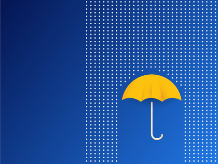 Vector umbrella and rain drops in rainbow colors - abstract weather concept Imagens - 63714909