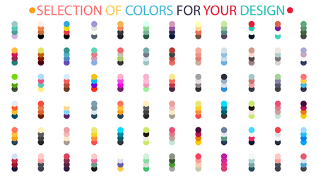 promptness: A selection of colors, gormonichnye colors for your design. the vector illustration Illustration