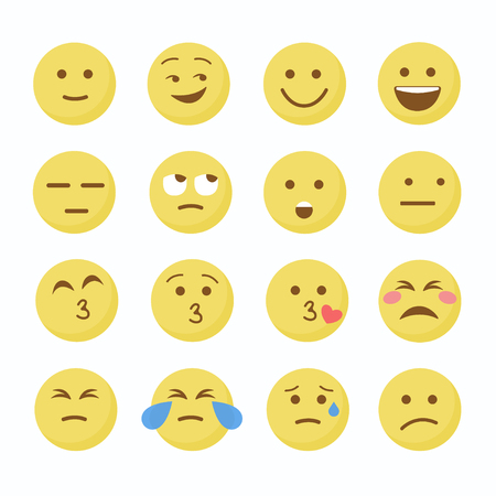 Emoji Flat Icons. Emoticon emoji set. Emoticon emoji icon. Emoticon emoji design. Ilustração