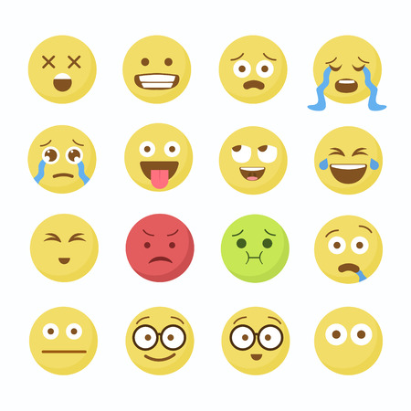 Emoji Flat Icons. Emoticon emoji set. Emoticon emoji icon. Emoticon emoji design. Imagens - 63714936
