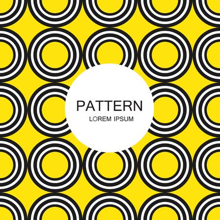 seamless pattern, geometric background Black and white Ilustração