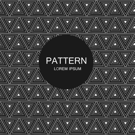 seamless pattern, geometric background Black and white Imagens - 63714938