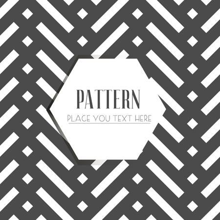 Vector seamless pattern, geometric background Black and white Imagens - 63714941