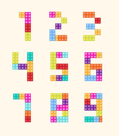 The figures, blocks color style vector set. Illustration Ilustração