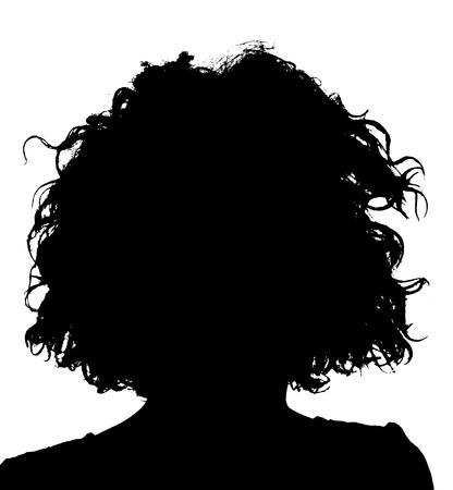 未知の女性人シルエット