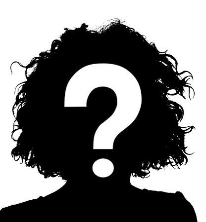 Unbekannte weibliche Person Silhouette Standard-Bild