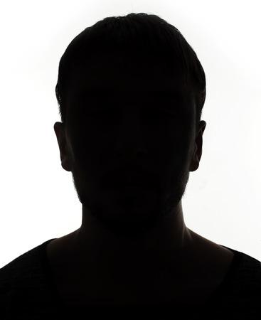 Unknown persona silhouette maschile