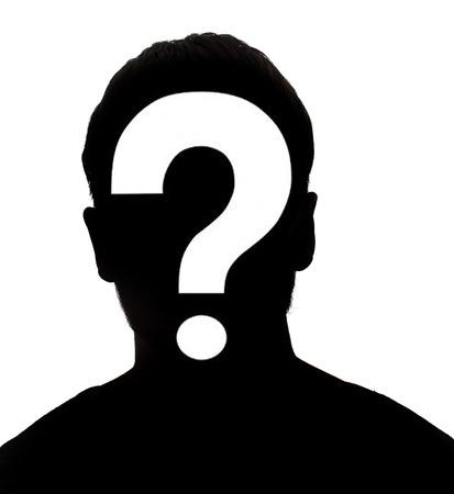 Personne de sexe masculin inconnu silhouette