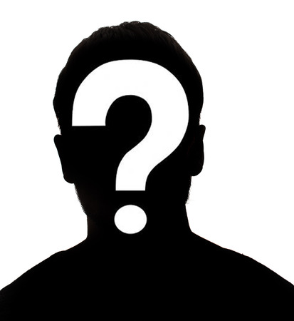 Unknown male person silhouette Stock Photo