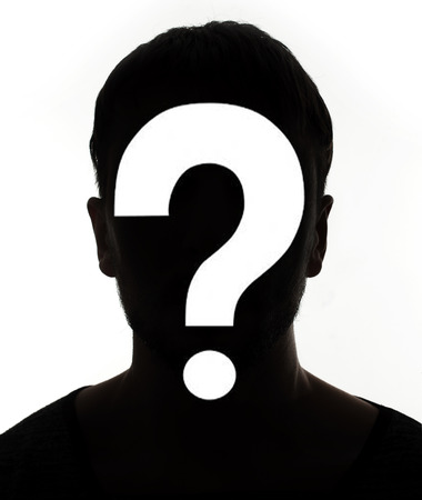 unnamed: Unknown male person silhouette Stock Photo