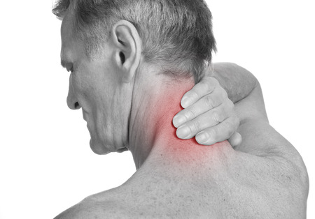 old man on a physical pressure: Pain Isolated