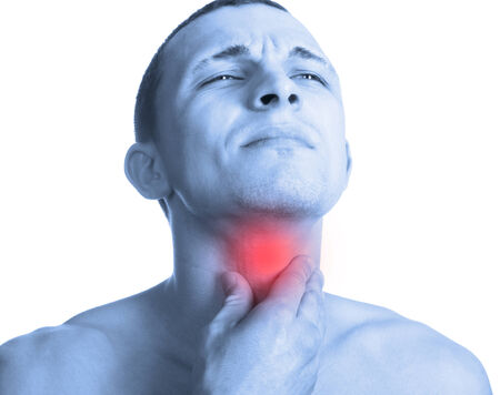 long neck: Sore throat