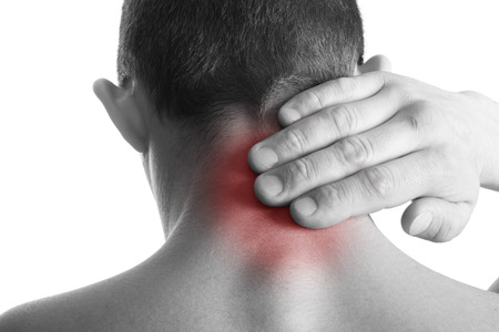 old man on a physical pressure: Pain in back Medical concept
