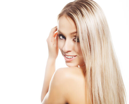 aging face: Beautiful woman face  Perfect makeup  Beauty problem and clean skin, aging and youth concept, beauty treatment
