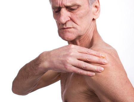 tortured body: Pain Stock Photo