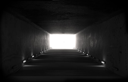 Light at the end of tunnel photo