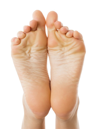 foot fungus: Health concept Female foot