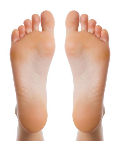 Gezondheid concept Vrouwelijke voet Stockfoto