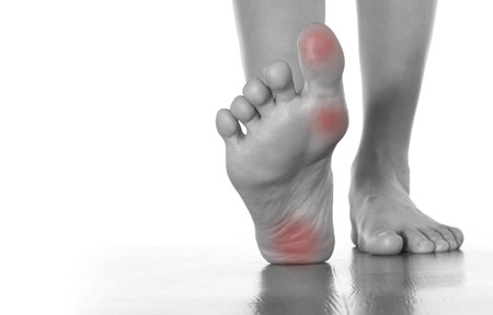 foot pain: Female leg