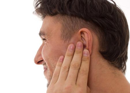dolor de oido: Concepto m�dico Earache Foto de archivo