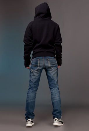 man back view: Back view  Stock Photo
